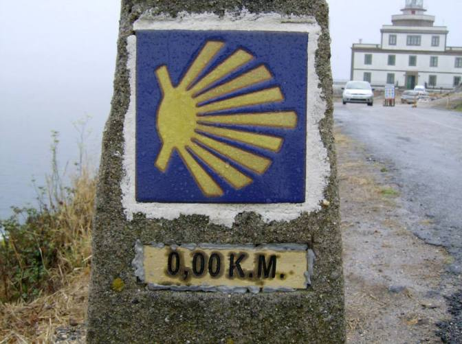 "The 0.0kM marker at the ""End of the World"""